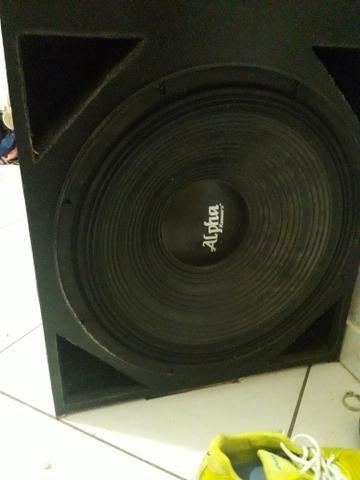 Vendo alto falante de 18 da alpha 400$ reais - Foto 3