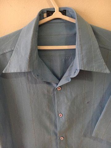 Camisa social azul - Foto 2
