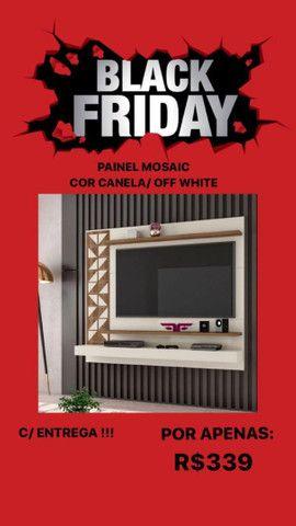 Promoção Black Friday! Painel Mosaic cor canela/off white. Entrega grátis!