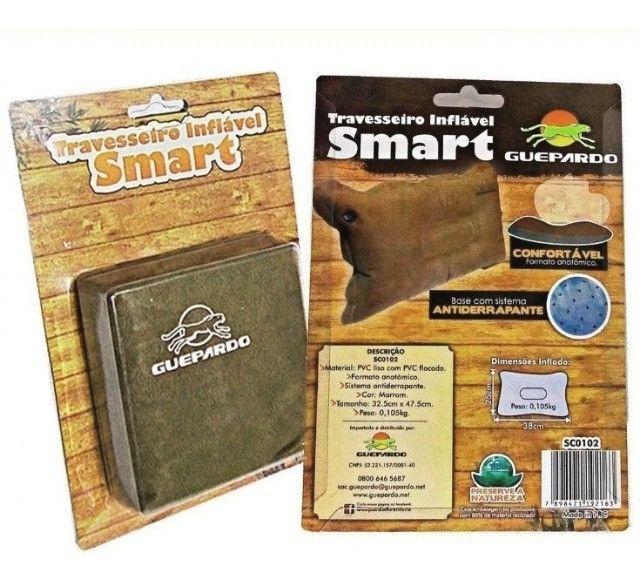 Travesseiro inflável Guepardo impermeável Smart - Foto 3