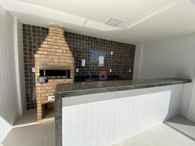 Apartamento novo, 2 quartos, andar alto, varanda gourmet e 2 vagas de garagem - Foto 5