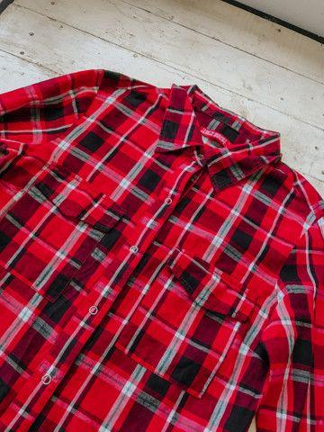 Blusa quadriculada manga comprida