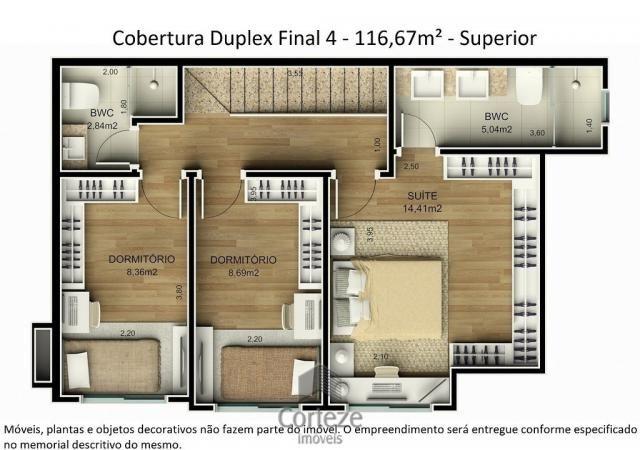 Cobertura duplex 3 quartos no Água Verde - Foto 7