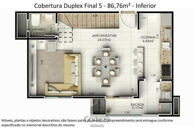Cobertura duplex 3 quartos no Água Verde - Foto 4