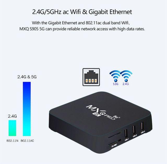 TV Box 4k 5G de 32gb Novo! - Foto 4