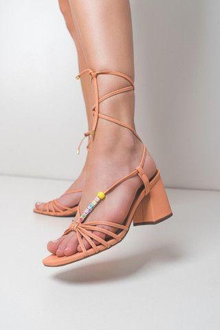 Sandália salto bloco . - Foto 3