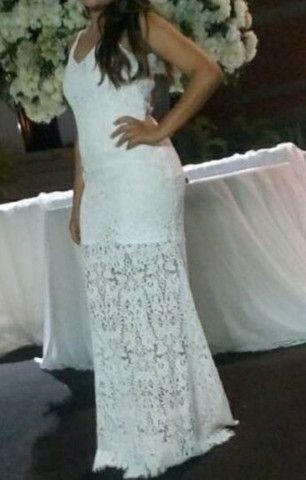 Vestido longo branco  - Foto 2