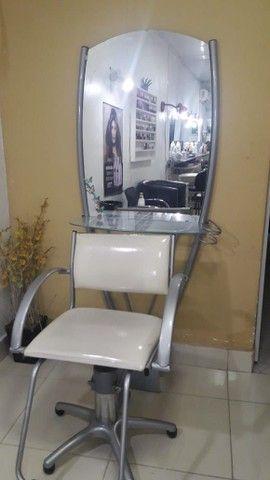 Espelho + Cadeira para salão
