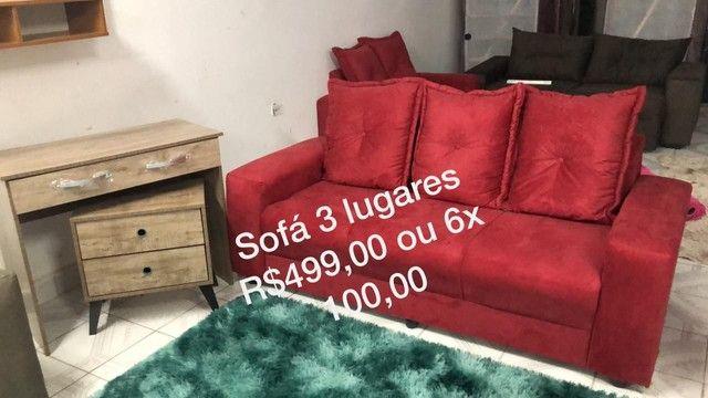 Sofás peça avulsa vermelho 2 lugares 399 - Foto 2