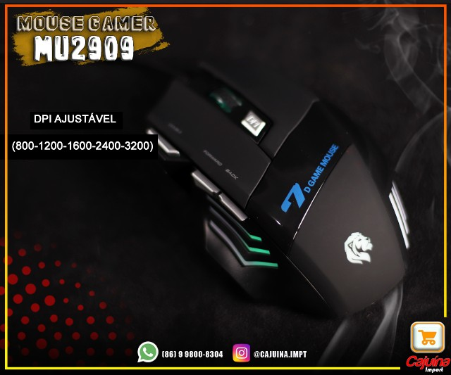 Mouse Gamer 3200 dpi mu-2909 M21sd9sd21 - Foto 2