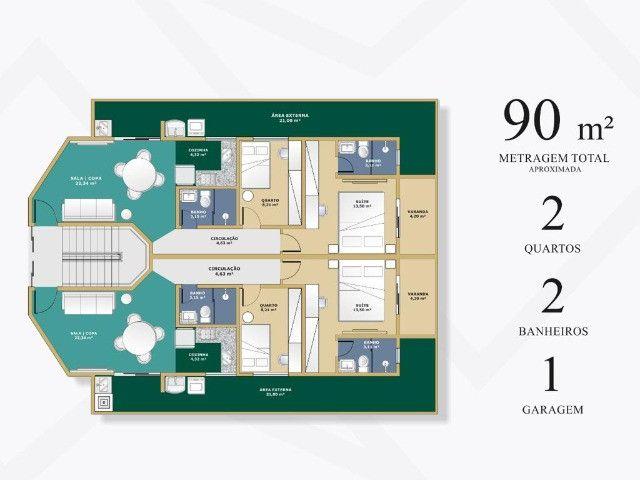 Apartamento Bom Retiro. Cód. 258. 2 qts/suíte. Sac. Gourmet., 85 e 90 m². Valor 280 mil - Foto 3