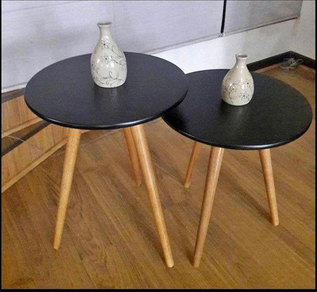Conjunto de mesas de apoio