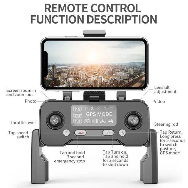 Drone SJRC F11 Pro 4k GPS Maleta Gimbal Estabilizador Eletrônico de imagens e EIS 1500mts - Foto 2