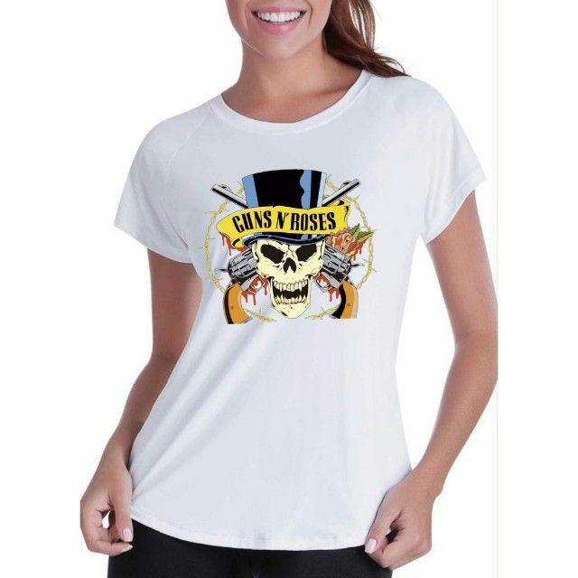 Camiseta Guns n Roses -  Masc e Fem - Foto 2