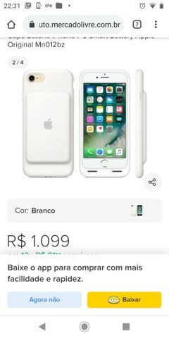 Oportunidade !! Capa carregadora iphone 6  99,00 - Foto 3