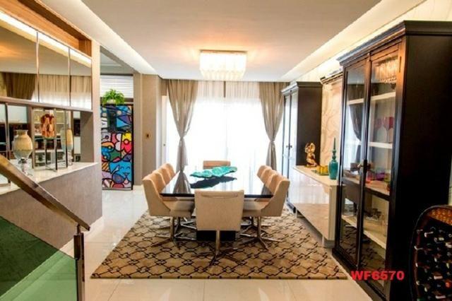 Mansão com 5 suítes, casa duplex, projetada e mobiliada, 7 vagas, rua privativa, Sapiranga - Foto 3