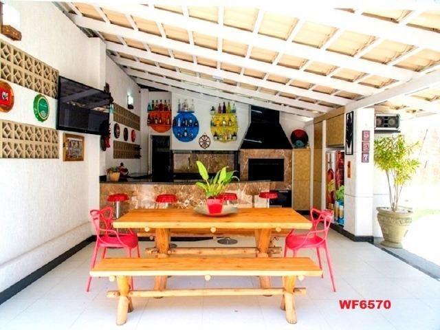 Mansão com 5 suítes, casa duplex, projetada e mobiliada, 7 vagas, rua privativa, Sapiranga - Foto 15