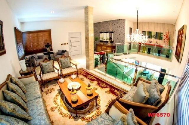 Mansão com 5 suítes, casa duplex, projetada e mobiliada, 7 vagas, rua privativa, Sapiranga - Foto 2