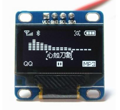 COD-AM310 Display Oled 128X64 Gráfico 0.96 12c Serial Branco Arduino Robotica