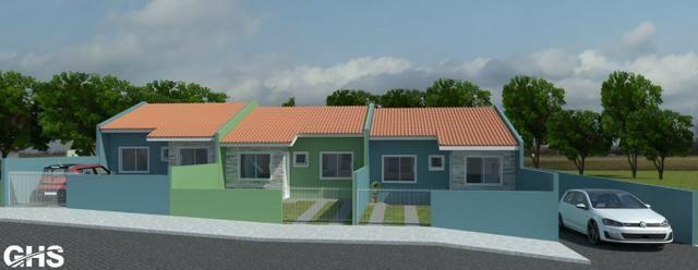 Casas novas 3 dormitorios bairro jd ceu azul campo largo, entrada facilitada