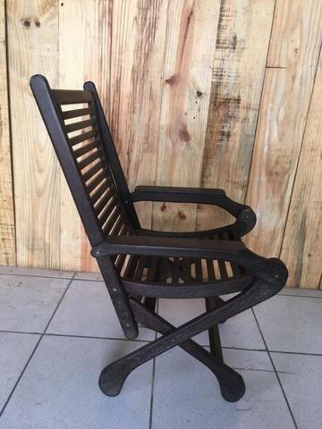 Cadeira de descanso em madeira sucupira - Foto 2