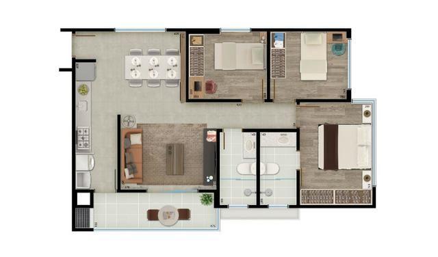 The Hills - Apartamentos novos no Centro! 3 quartos 86m² - Foto 2