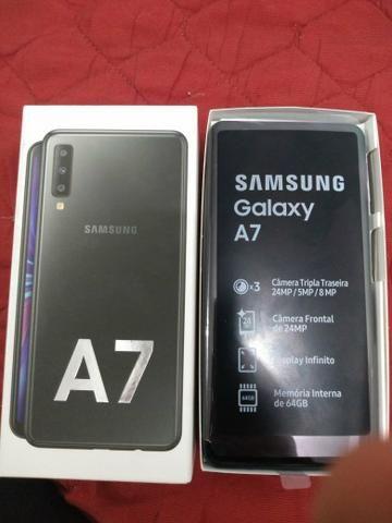 Samsung A7 nunca usado com nota