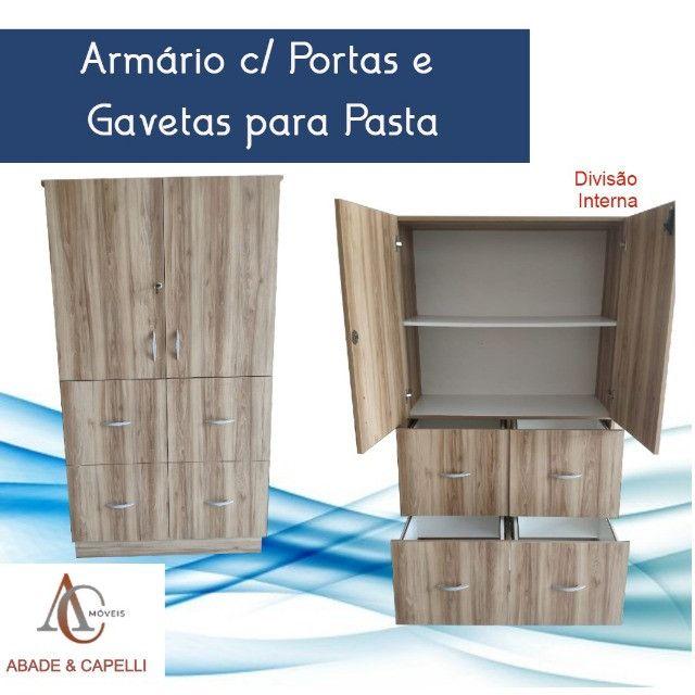 Armário Alto c/ Gavetas para Pasta