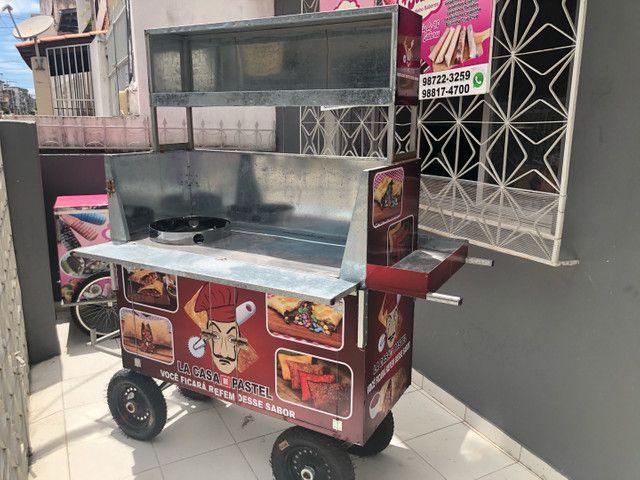 Vendo carrinho de pastel novo - Foto 3