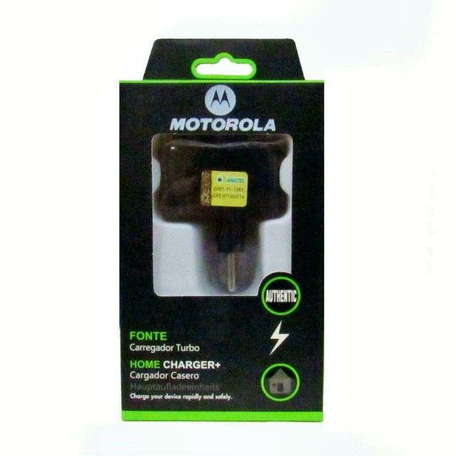 Carregador turbo Motorola 10w com cabo USB 1mt  v8
