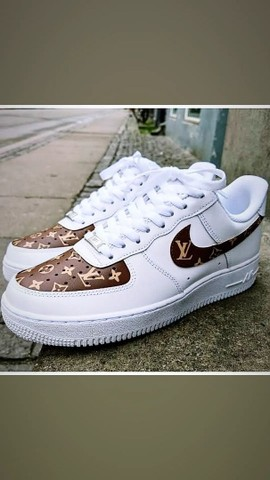 Nike Air Force-Louis Vuitton Unissex  - Foto 3