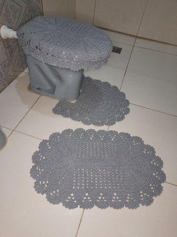 Jogo de banheiro em crochê simples - Foto 4