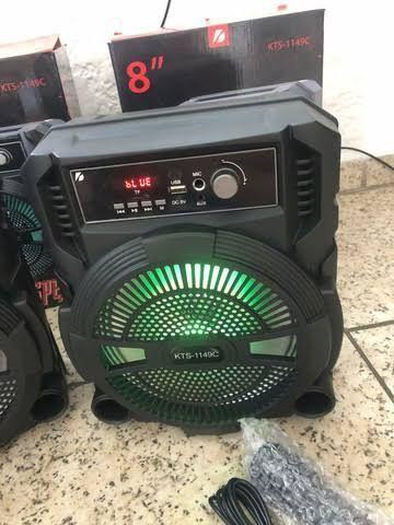 Caixa de som potente karaokê com microfone a pronta entrega