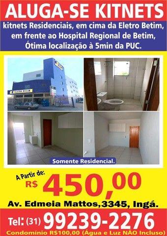 Aluga-se Kitnets Residenciais, a partir de R$450,00
