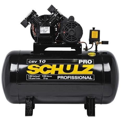Compressor 10 Pés 100 Litros 140 Libras 2 HP schulz