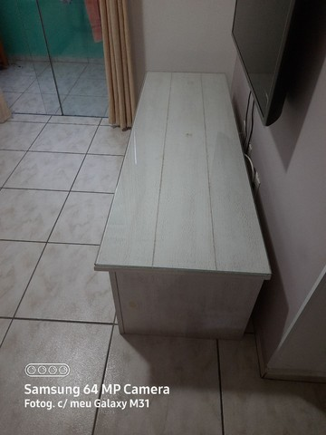 Rack Rústico Branco Pintura Pátina <br><br> - Foto 2