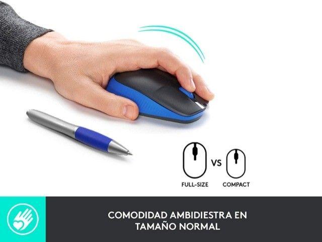 Mouse Óptico Sem Fio 2.4 Ghz 1.000 DPI Preto Logitech M190 Novo original - Foto 4