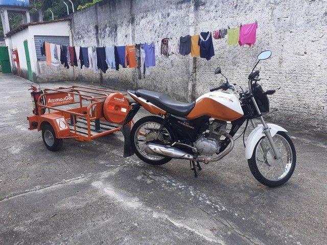 Moto cg 125 cargo com carrocinha - Foto 2