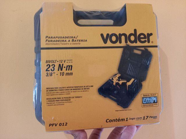 Parafusadeira vonder profissional 12volts (so respondo no watssap)