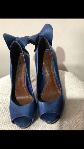 Sapato azul Schutz tamanho 34 - Foto 6