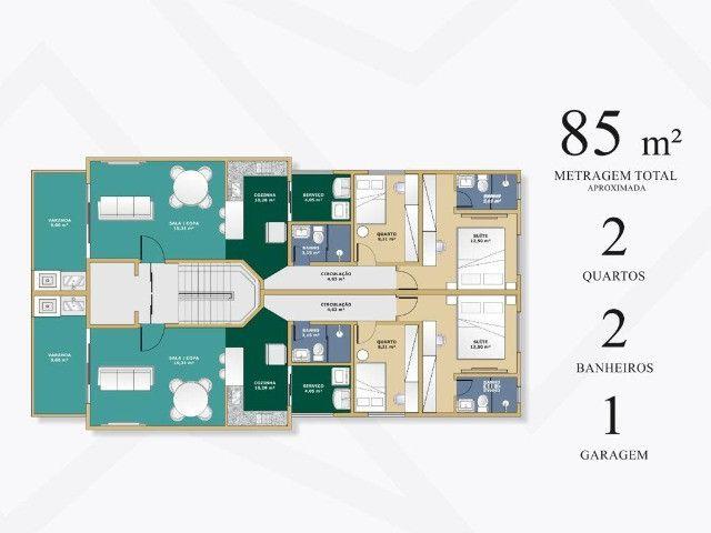Apartamento Bom Retiro. Cód. 258. 2 qts/suíte. Sac. Gourmet., 85 e 90 m². Valor 280 mil - Foto 5