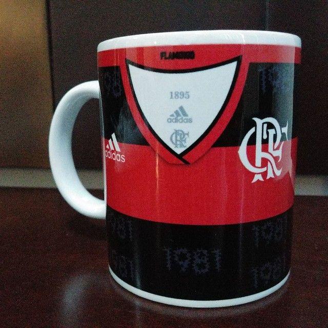 Caneca Personalizada camisa do Flamengo 325ML  - Foto 2