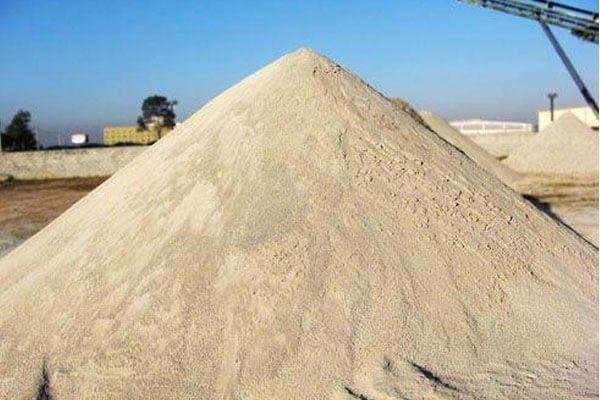 areia, areola e pedra