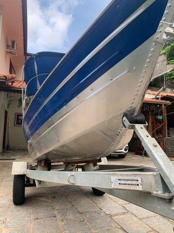 Barco alumínio de bico borda alta 5m semi novo - Foto 4