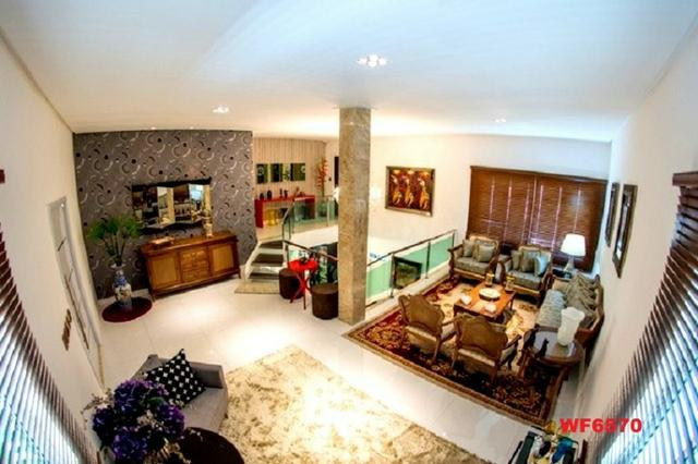 Mansão com 5 suítes, casa duplex, projetada e mobiliada, 7 vagas, rua privativa, Sapiranga - Foto 4