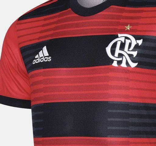 4a6170264d Camisa Flamengo I 2018 s/n° Torcedor Adidas Masculina - Vermelho e Preto