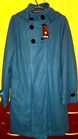 Casaco Azul Petróleo em lã 44