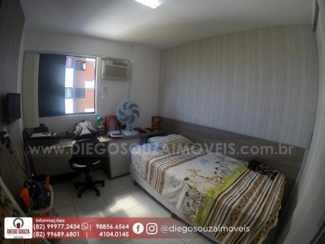 Apartamento para venda em maceió, farol, 3 dormitórios, 1 suíte, 1 banheiro, 2 vagas - Foto 9