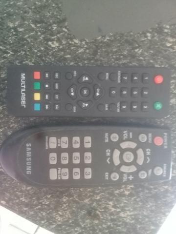 TV em boas condições de semi nova +receptor +controles +antena - Foto 3