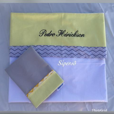 Kit lençóis e fronhas para berço - Foto 2